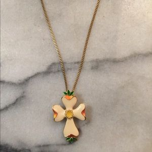 Dogwood cross necklace